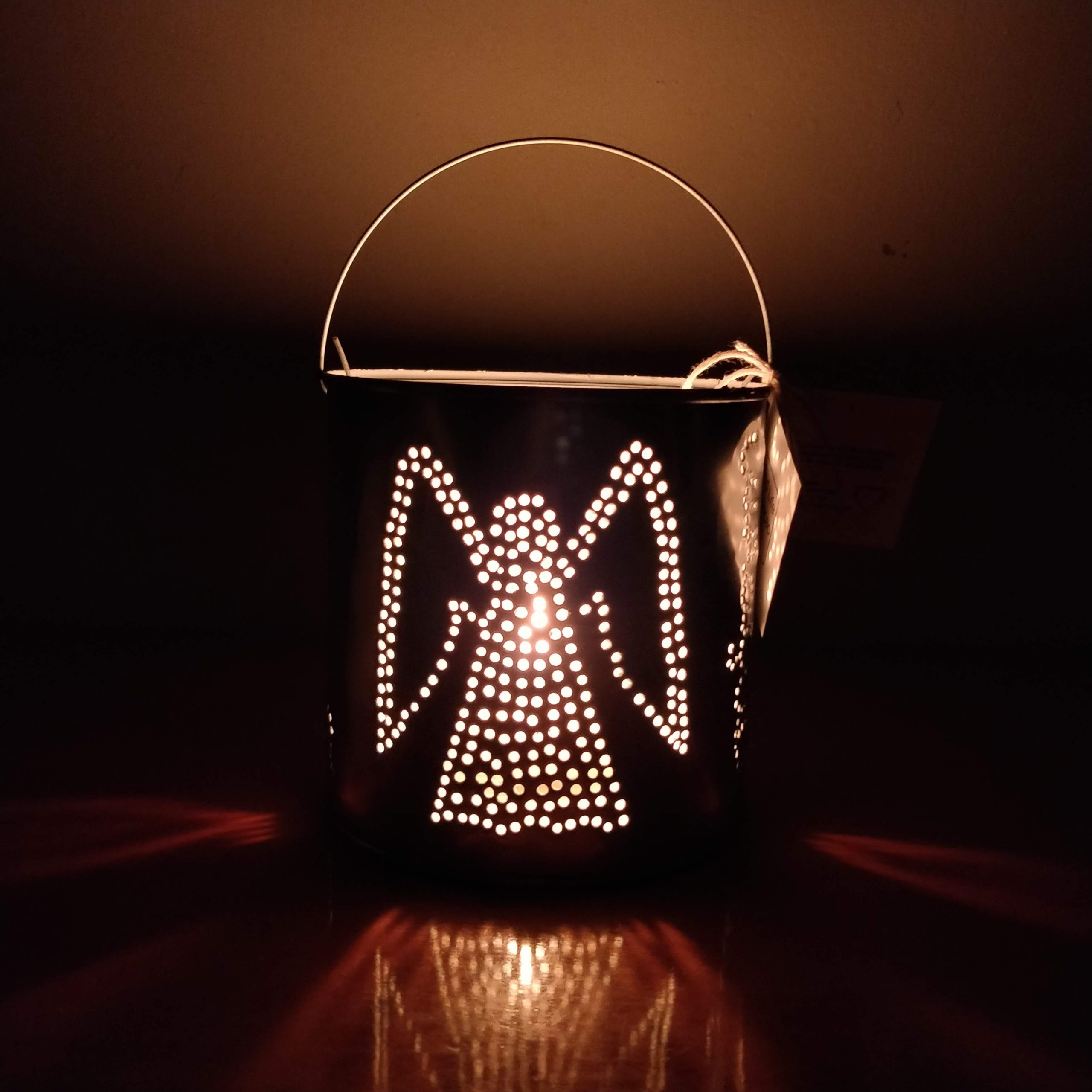 Angel Lantern Recycled Art Candle Light Holder Lantern Made in Curacao