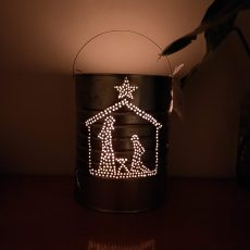 Nativity Christmas Candle Holder Lantern Handmade Locally Recycled Curaçao Souvenir